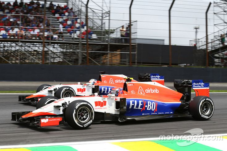 Alexander Rossi, Manor Marussia F1 Team and team mate Will Stevens, Manor Marussia F1 Team