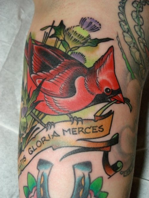 cardinal bird #ink #tattoo