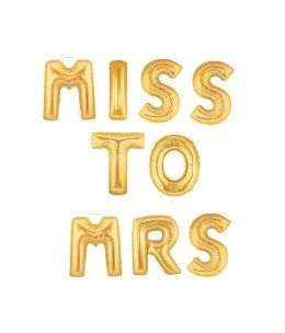 16 MISS TO MRS Balloons Bridal Shower Gold by TheFulfilledShop