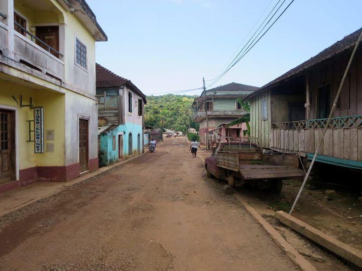 Tranquility reigns on the quiet streets of Santo Antonio on Principe Island, São Tomé and Príncipe.