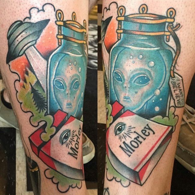 The Smoking Man Has Definitely... is listed (or ranked) 3 on the list 25 Incredible Tattoos Inspired by The X-Files