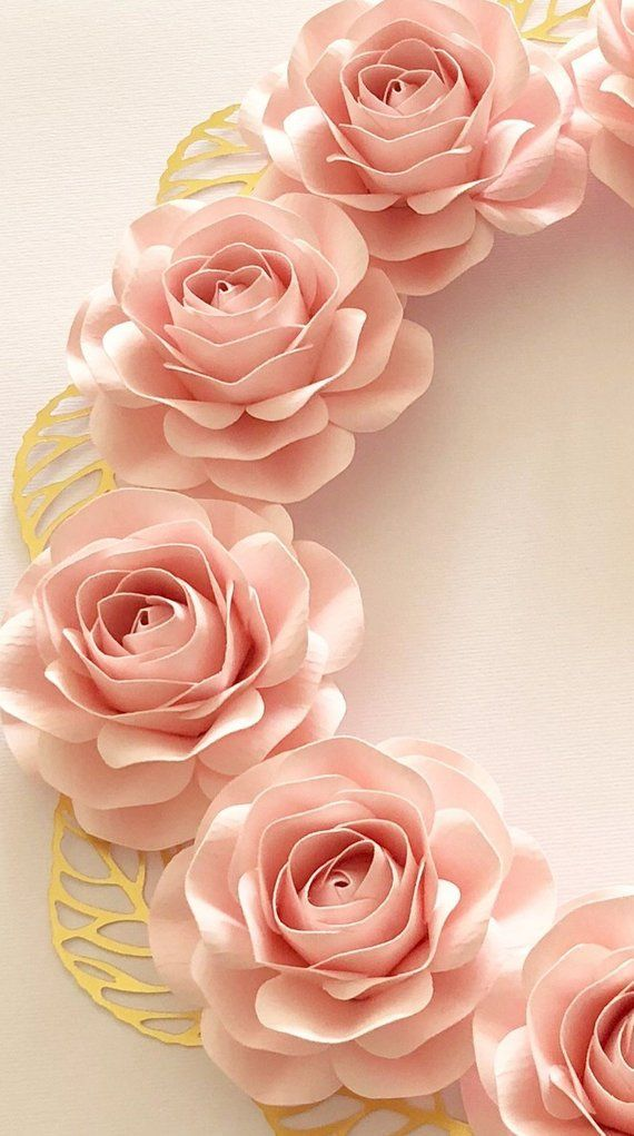 Small Paper Flowers Mini Rose Template For Diy Crafting Etsy In 2020 Paper Flowers Mini Roses Flower Creation
