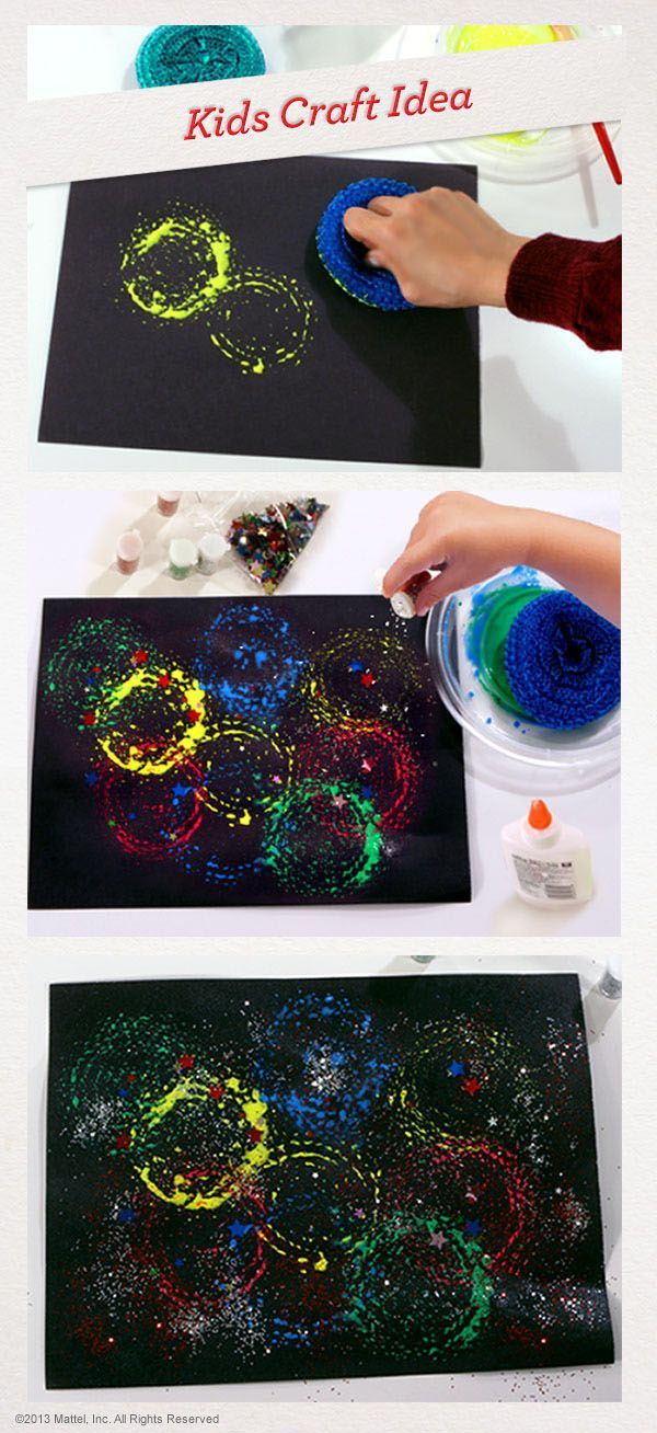 Herea??s a really different way to make a Fourth of July painting a?? your kids will love it! #Crafts #Activity #4thofJuly
