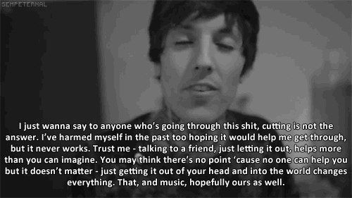 I didn't know Oli self harmed.... This is why he is an inspiration