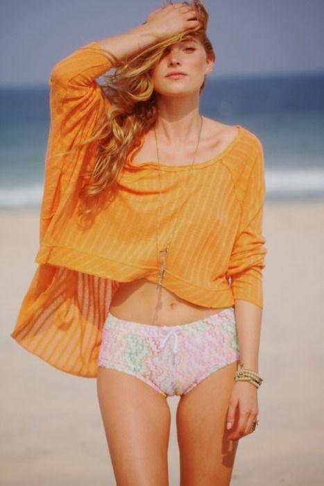 So lovely, orangee!Spring Breaking, Endless Summer, Sexy Swimsuits, Summer Beach, Beach Fashion, Crime Scene, Elsa Hosk, Free People, Summer Sun