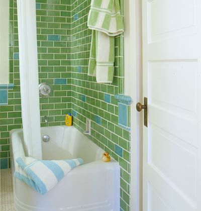 Bathroom Ideas Green Subway Tilegreen