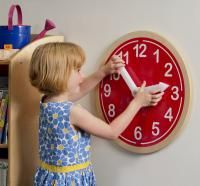 Whitney Brothers Wall Clock available through Schoolhouse Products $109