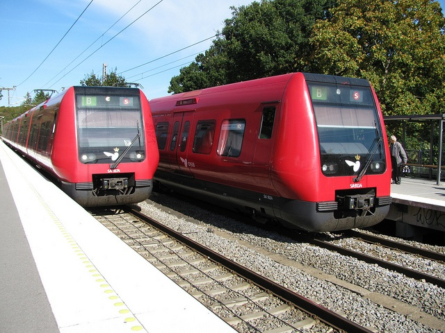 Fantastic electric trains!  All over Denmark!  Clean and quiet.