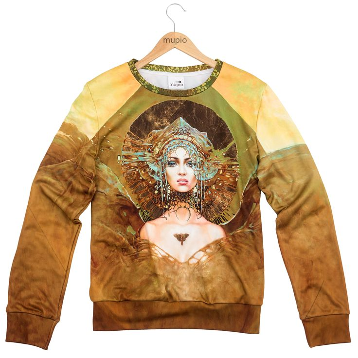 MOTH  Price: 40 EURO  Moth is another sweatshirt, which was created on the grounds of a painting from the atelier of Karol Bąk.  Karol Bąk is an artist recognized worldwide, thanks to the portraits of women of timeless beauty.  The number of products is limited.