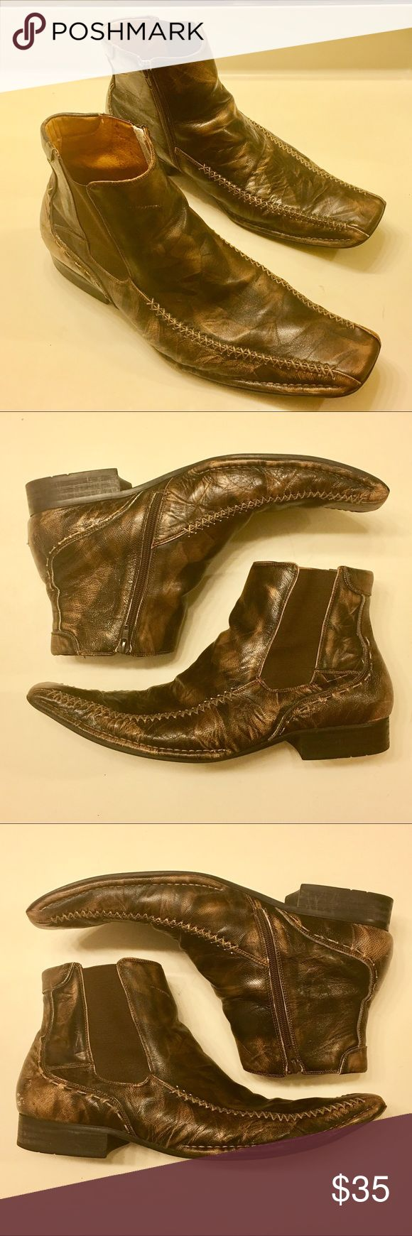 Men's 13 | STEVE MADDEN Brown Leather Ankle Boots Men's 13 | STEVE MADDEN Brown Leather Ankle Boots. Hot. To. Trot. 🔥🔥🔥 Gently Lived • EUC Steve Madden Shoes Boots