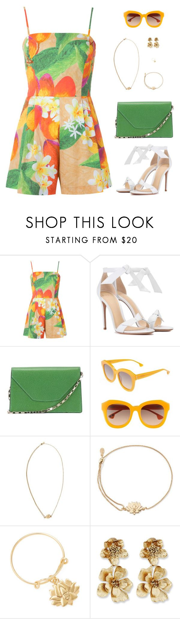"""Sin título #4948"" by mdmsb ❤ liked on Polyvore featuring Isolda, Alexandre Birman, Valextra, Alice + Olivia, Alex and Ani and Oscar de la Renta"