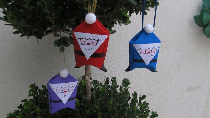 Santa claus decorativos dulceros manualidades ecol gicas - Decorativos de navidad ...