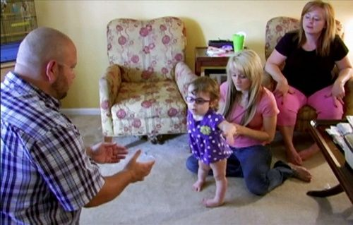 Teen Mom Leah Messer Helps Daughter Ali Walk