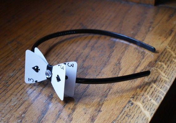 playing card headband