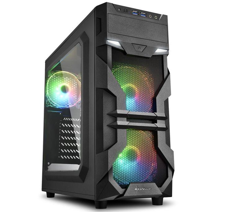 ПК-корпус Sharkoon VG7-W с тремя RGB-вентиляторами ...