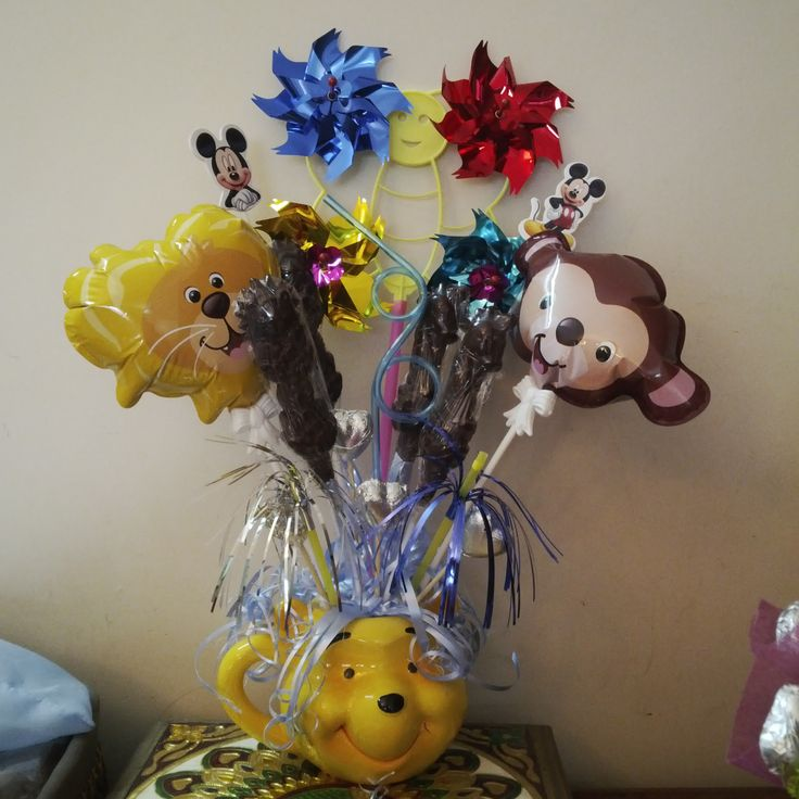 kids chocolate n balloon bouquet