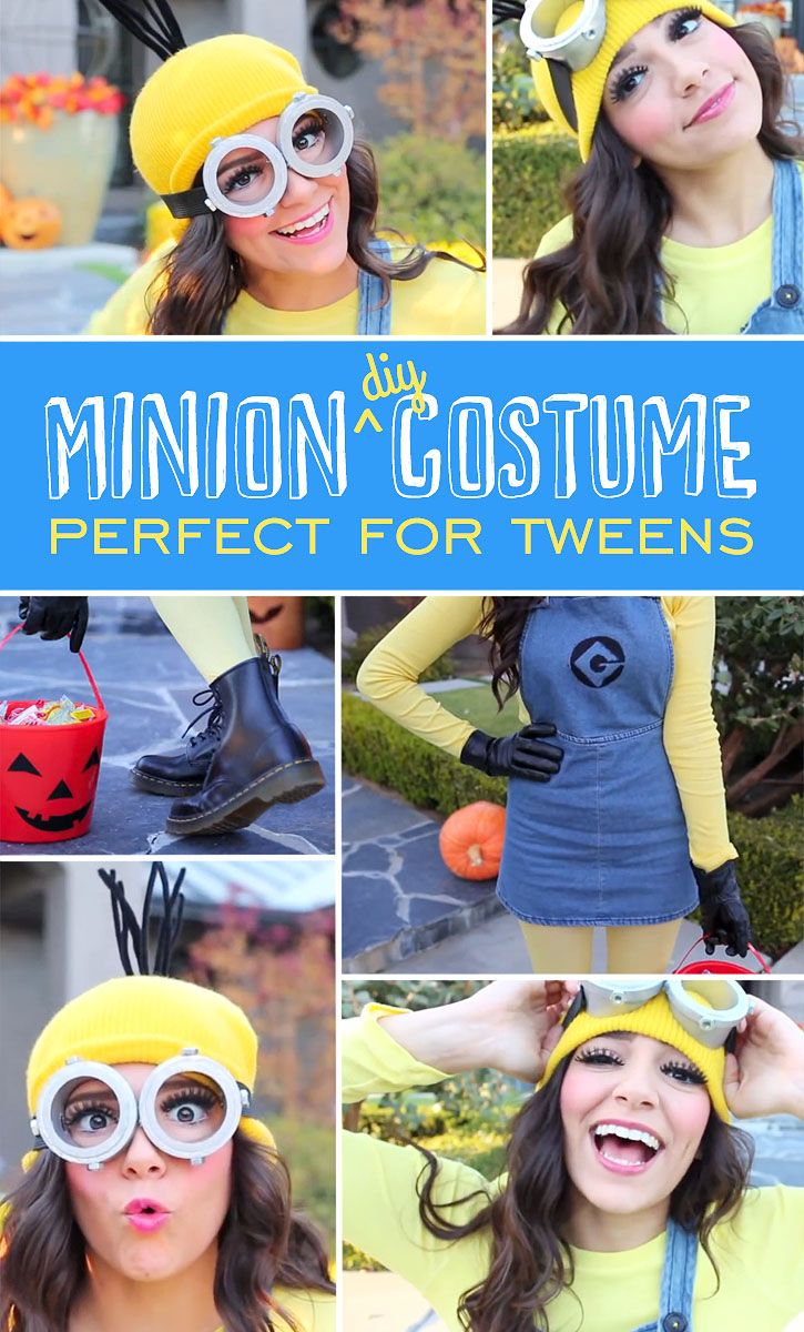 Minion DIY Costume perfect for Tweens | 25+ minion party ideas