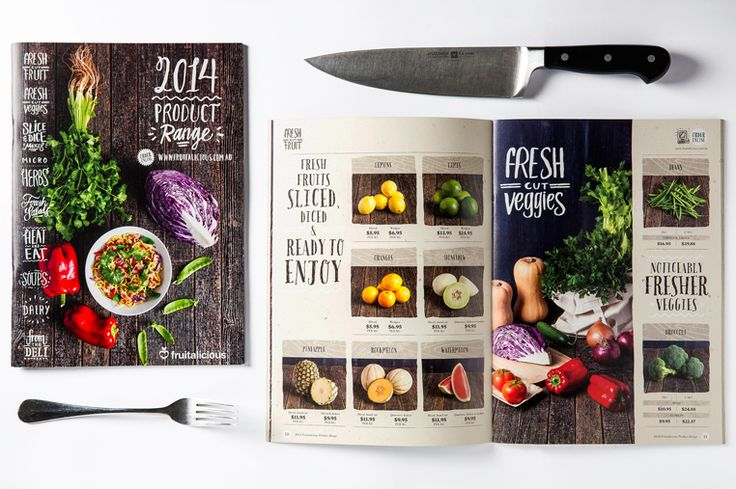 Catalogue design for a fruit and vegetable wholesaler