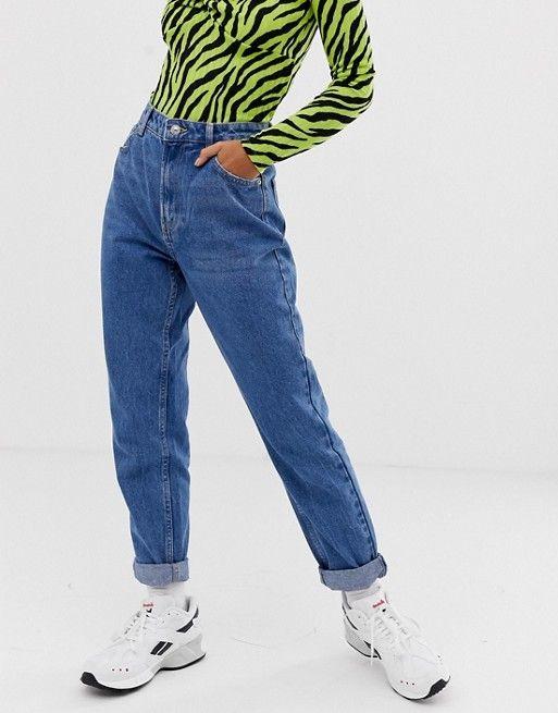 ed0d6d5ce3 Bershka mom jean in mid wash in 2019 | Pants | Mom jeans, Fashion, Pants