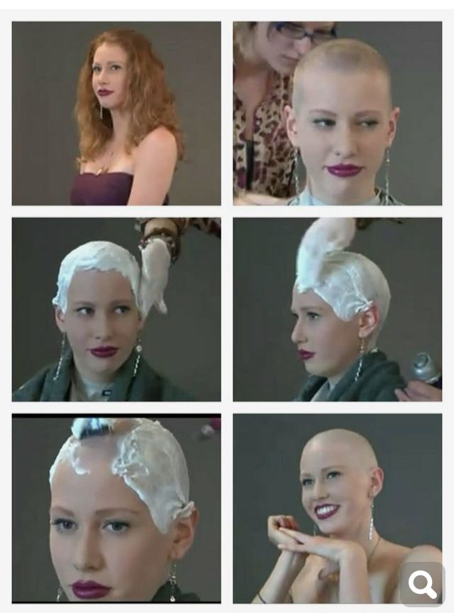 Pin By David Connelly On Bald Women Covered In Shaving