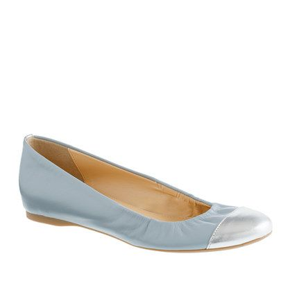 Cece cap toe ballet flats Buttery soft blue leather and a silver cap toe :)