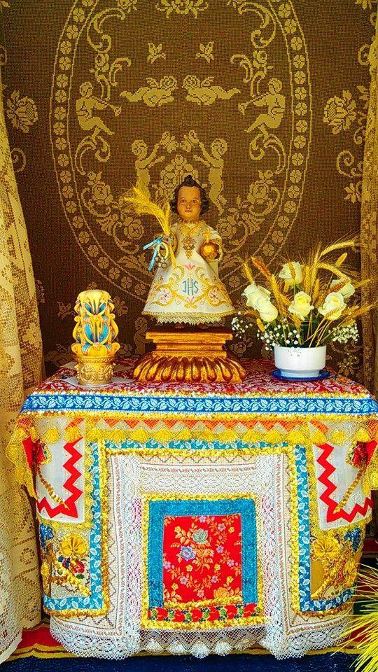 Altar y Botados de Lagartera expuestos el día del Corpus #Corpus #CorpusLagartera  #Lagartera #cunadebordados #bordados #España #tradicion #embroidery #hechoamano