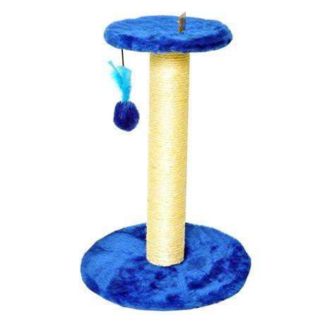 Arranhador para Gatos com 2 Plataformas Lisa Azul Escuro São Pet - Meuamigopet.com.br #cat #cats #gato #gatinho #bigode #muamigopet