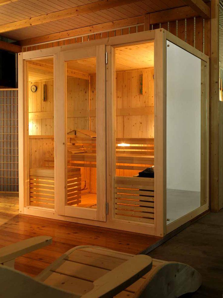 Sauna finlandese e sauna con bagno turco hammam