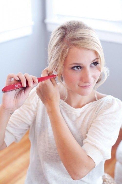 Soft And Romantic DIY Low Side Chignon Wedding Hairstyle Weddingomania | Weddingomania