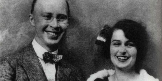 Serguéi y Lina Prokofiev, en 1921
