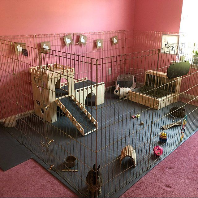 Bunny Castle And Fort Heart Design Bunny Cages Rabbit