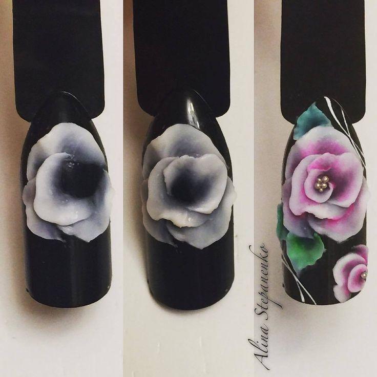 пошаговое фото лепки розы акрилом для