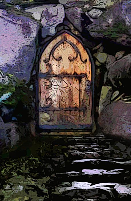She led her friends to a small cabin near the castle and knocked on an intricately ornate door… (The Eye of the Great Troll)