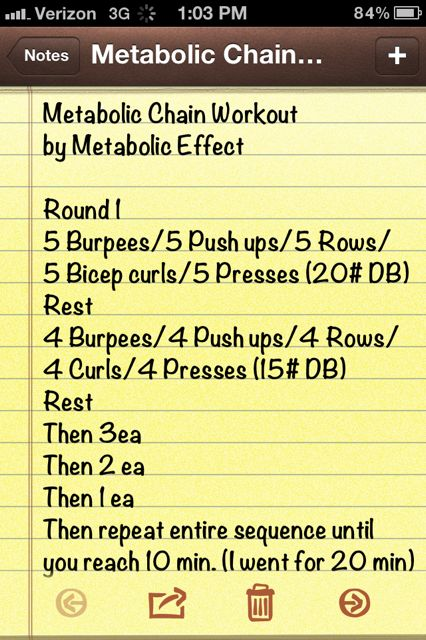 Metabolic Chain Workout