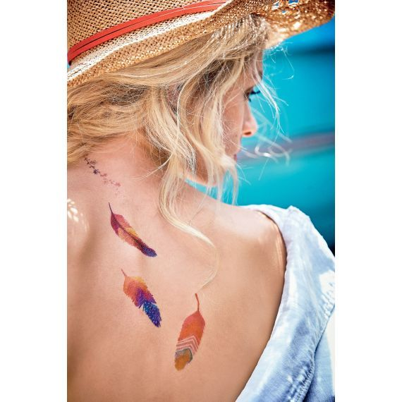 Flash Tattoo, Aquarell-Optik