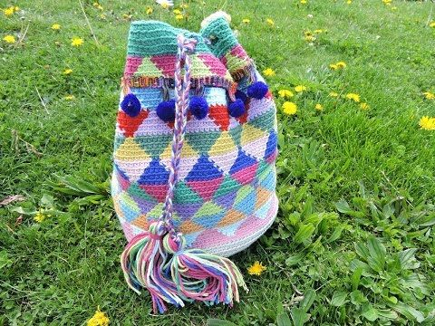 Punto crochet mochila Wayuu - YouTube
