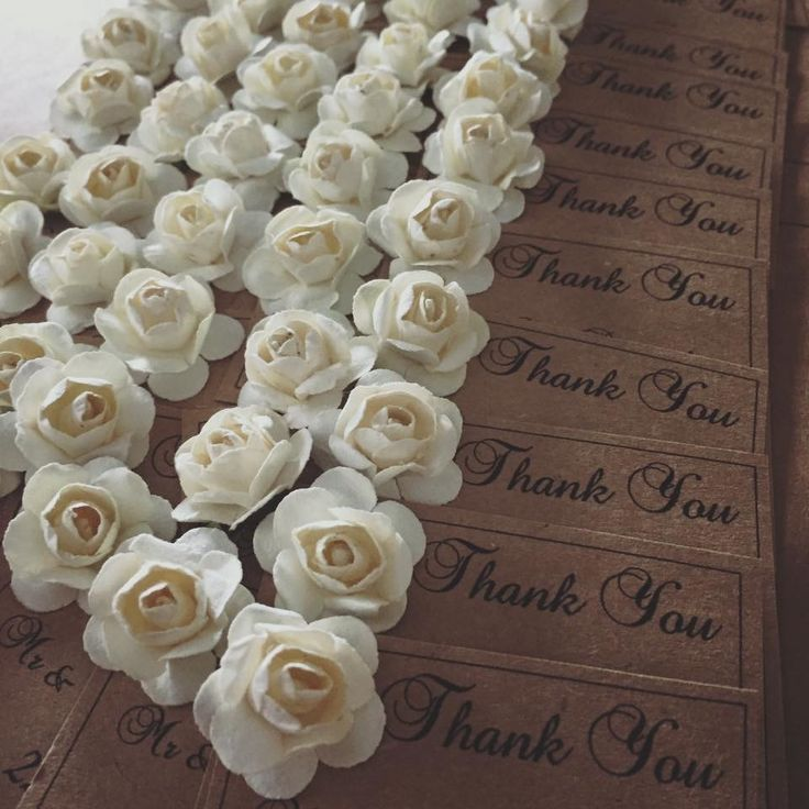 Thank you cards to complete your guest gifts