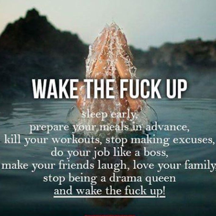 Wake up!!!! Stop will all excuses stop with blaming other people for why your not where you are in life and having what you want. All the non sense needs to stop and you need put yourself first. Get your life set and prepare to succeed not be unprepared and fail. Have your meals cooked and set up ready to go to keep your nutrition on point. Get into the gym and push yourself don't just show up and go through the motion. Hard work determination preparation are all keys to becoming a better…