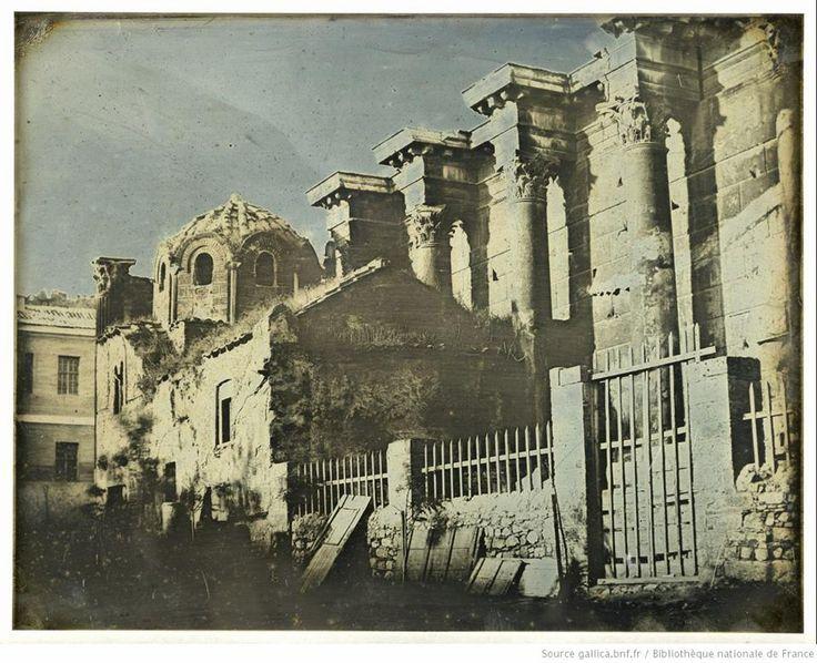 The Library of Hadrian in Athens in 1842. [photographie] / Joseph Philibert Girault de Prangey