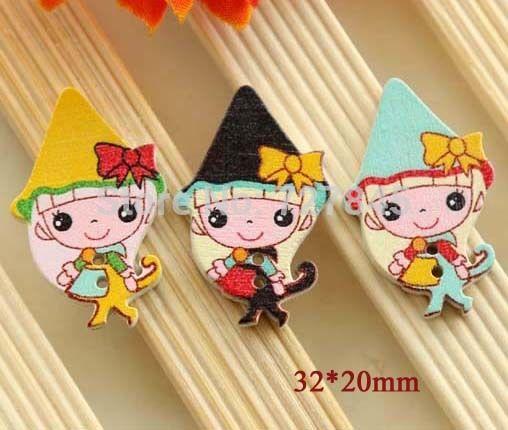 Купить товар32 * 20 мм каваи маленькая девочка форма деревянные кнопки, декоративная кнопка, ( SS k533 ) в категории Пуговицына AliExpress.     Особенности:             Новое и хорошего качества                  Мода кнопки.