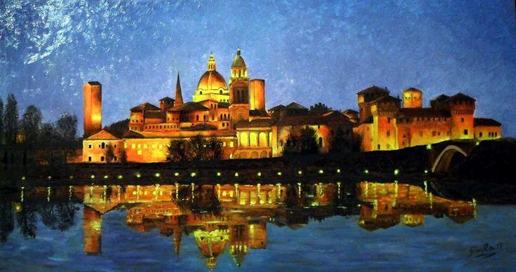 Mantua Olio su tela 90x50 ca. oil on canvas