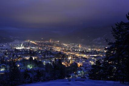 Night Sledding in Ehrwald, Austria