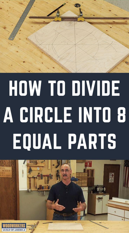 Wie man einen Kreis in 8 gleiche Teile teilt
