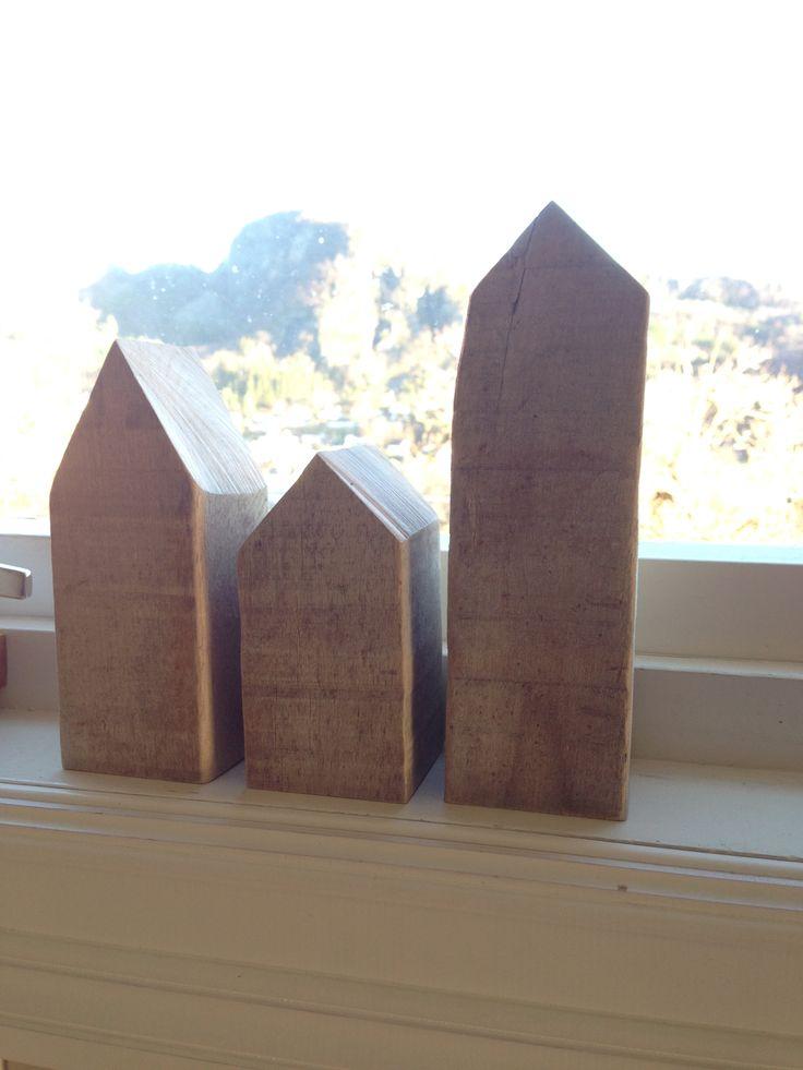 Houses made of drift wood.