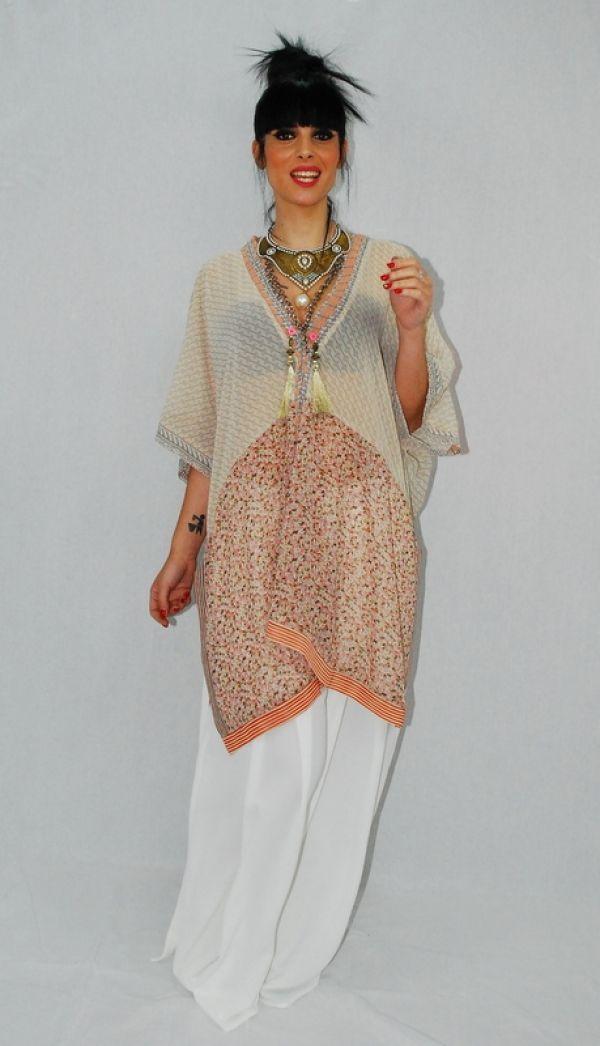 WEEK 22 - Blusón Pacthwork con palazzo y Maxicollares #bluson #pantalon #collar #moda #fashion #ropa #elegante #woman #mujer #coleccion #complementos #instastyle #shop #shopping #model #almeria #almería #garrucha #peligros #carboneras #andalucia