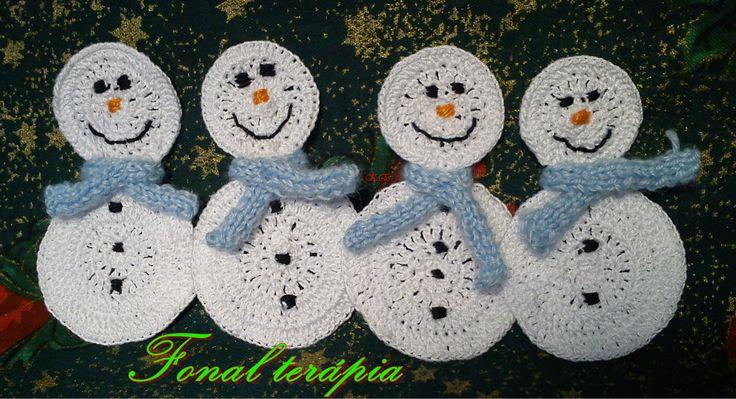 horgolt#hóemberek#tél#karácsony