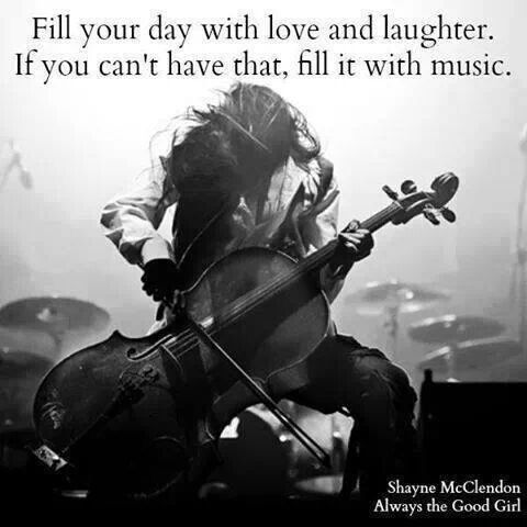 """Cool quote but all I can think is... """"I have no idea what I'm doing"""" when I look at the 'cello player'"""