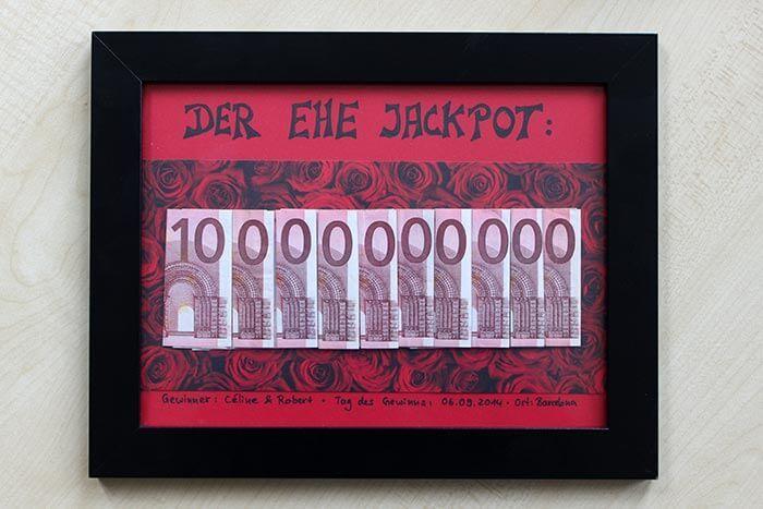 Ihr investiert 100€ und könnt dem Brautpaar den Ehe-Jackpot überreichen: 10 MILLIARDEN EURO!   Bastelanleitung   Schritt-für-Schritt   Schnell & einfach!