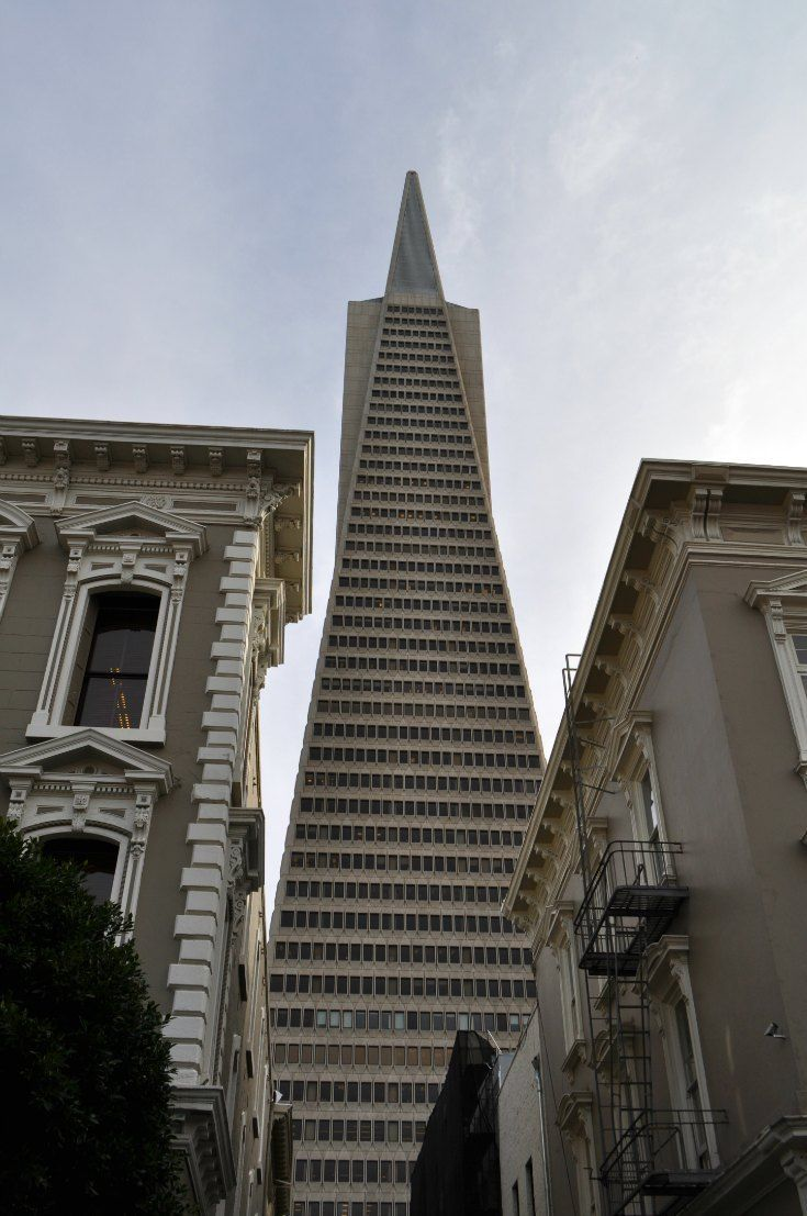 The TransAmerica building in San Francisco.