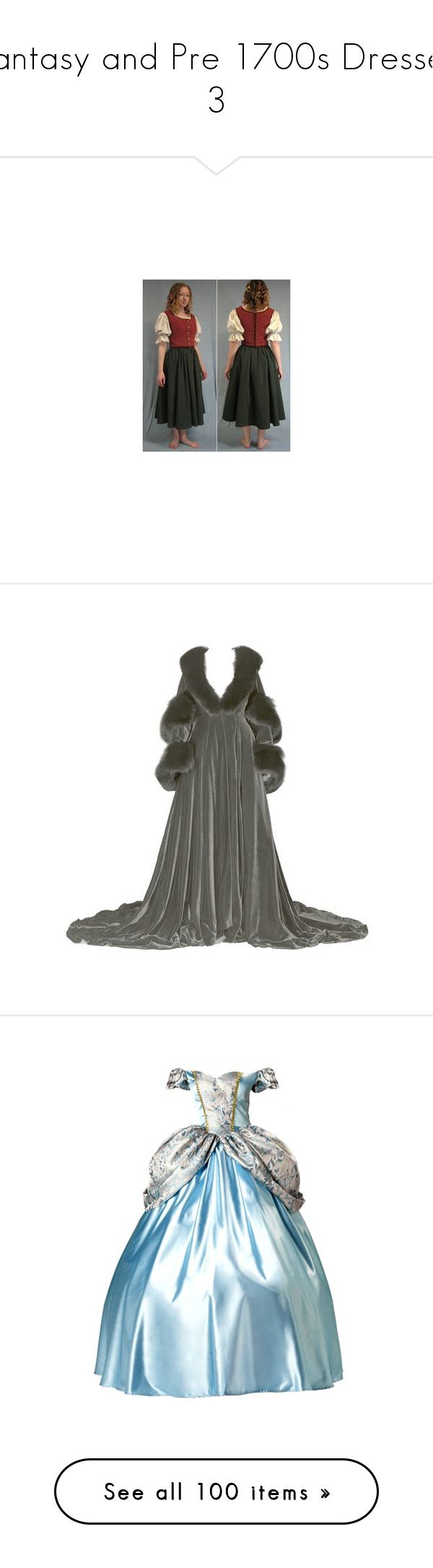 """""""Fantasy and Pre 1700s Dresses 3"""" by ltspork ❤ liked on Polyvore featuring costumes, dresses, gowns, long dresses, cinderella, disney, blue gown, blue ball gown, blue evening gown and blue color dress"""